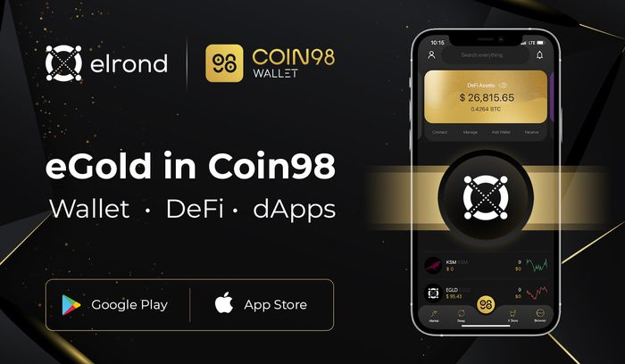 Leading South East Asian DeFi App Coin98 Will Integrate Elrond And Give Hundreds Of Thousands Of Users Direct Access To eGold, Elrond Assets, DeFi And dApps